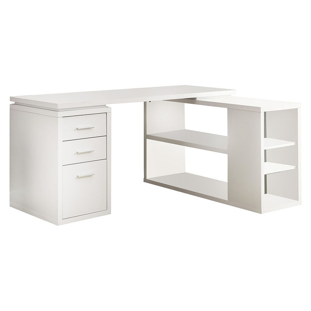 Hollow Core Left Or Right Facing Corner Desk - White - EveryRoom