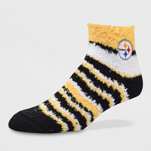 new style 9946c 1f683 NFL Pittsburgh Steelers Fuzzy Fan Socks - M