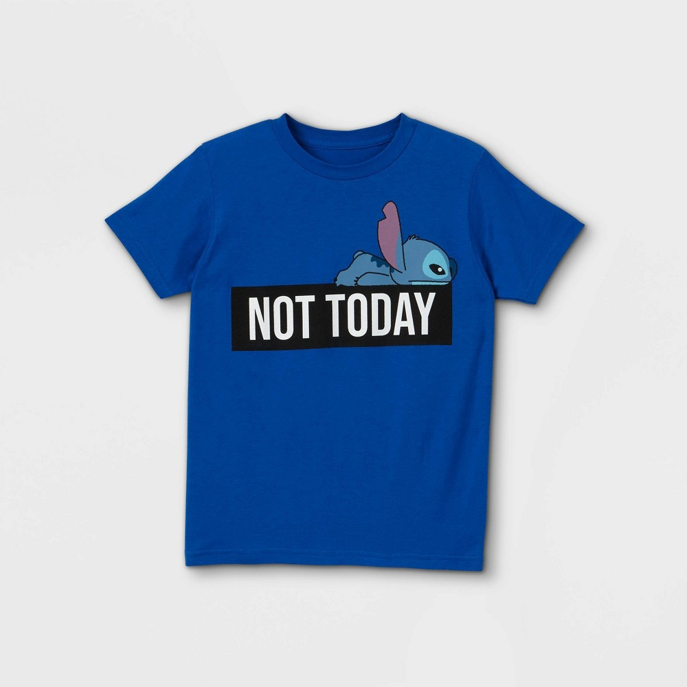 Boys 39 Stitch Not Today Short Sleeve Graphic T Shirt Blue S