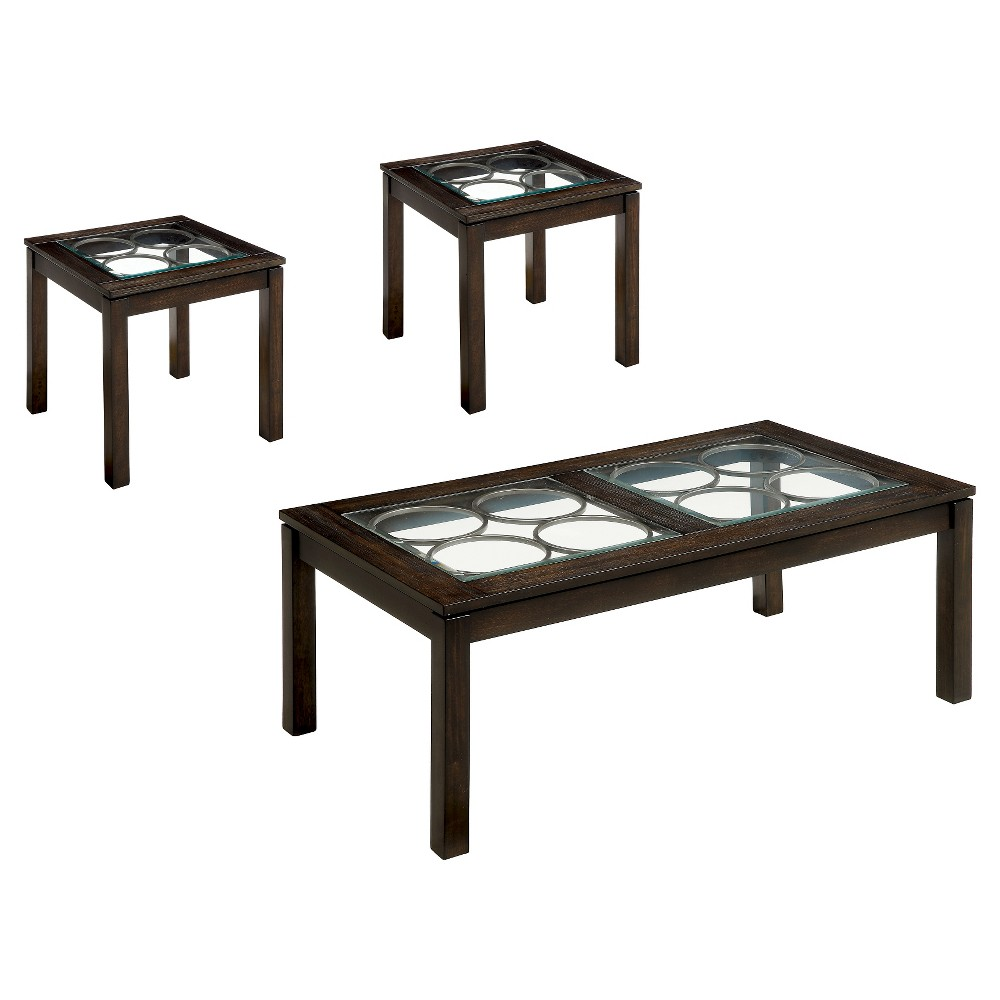 ioHomes Occasional Table Set Dark Brown