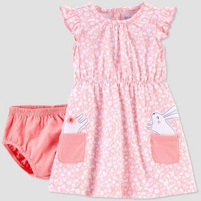 Baby Girls' Bunny Floral Dress - Just One You® made by carter's Pink 3M