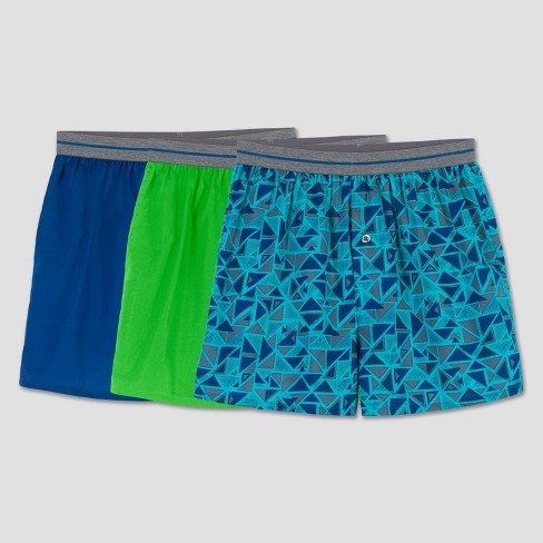 Fruit of the Loom Boys' 3pk Triangle Print Boxer Short - image 1 of 2