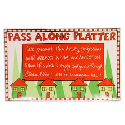 Tabletop Pass Along Platter Ceramic Christmas Platter Enesco  -  Serving Platters