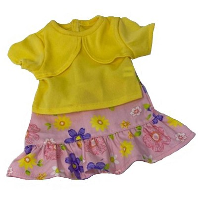 Doll Clothes Superstore Knit Top And Ruffle Trim Skirt Fits 15-16 Inch Baby Dolls.