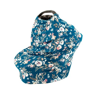 Bebe au Lait 5-in-1 Premium Cotton Nursing Cover - Midnight Floral
