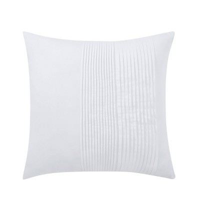 18x18 Bedford Pleated Square Throw Pillow Gray - Charisma