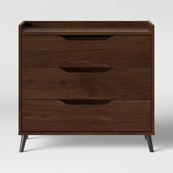 3 Drawer Modern Gallery Dresser Walnut Brown - Room Essentials™