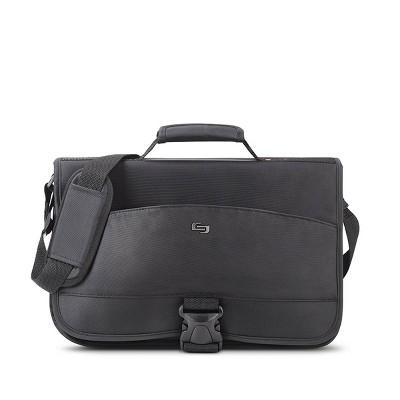 "Solo New York Conquer Expandable 15.6"" Laptop Messenger Bag - Black"