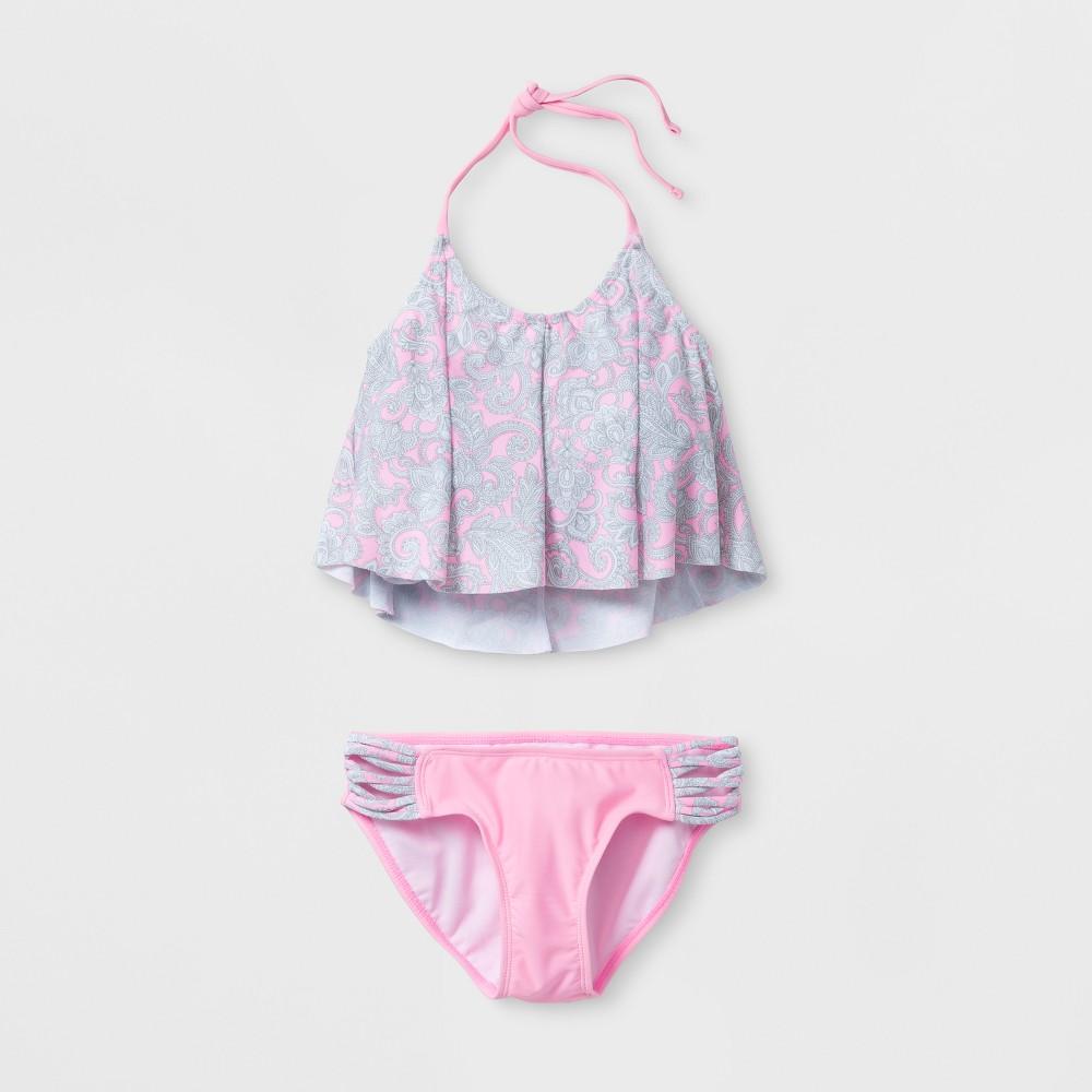 Malibu Dream Girl Girls' Gypsy Paisley 2pc Midkini Set - 14, Multicolored