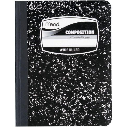 Mead Black Marbled Cover Composition Book, Wide Rule, 7-1/2 x 9-3/4 Inches - image 1 of 1