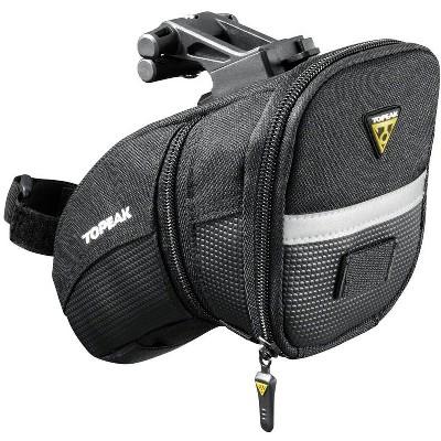 Topeak Aero Wedge Seat Bag: QuickClick, Medium, Black