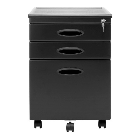 Studio Designs Mobile Office 3 Drawer Small File Storage Cabinet Gray 2 Pack Target