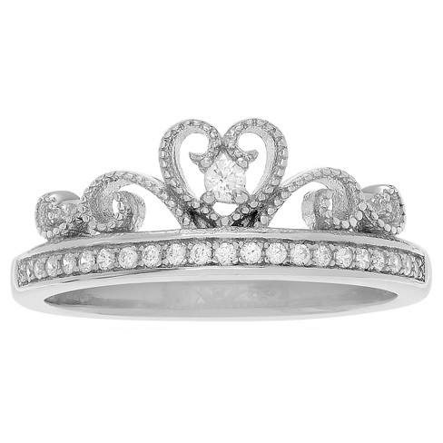 1/2 CT. T.W. Round-cut Cubic Zirconia Basket Set Crown Ring in Sterling Silver - image 1 of 2