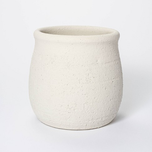 """9"""" x 9.5"""" Rustic Weathered Planter White - Threshold™ designed with Studio McGee - image 1 of 4"""