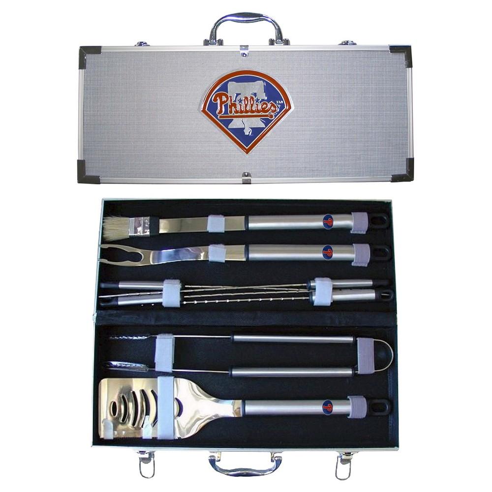 Siskiyou MLB Team 8-Piece Bbq Set with Hard Case -Philadelphia Phillies, Philadelphia Phillies