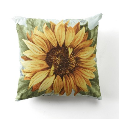 """Lakeside Spring Sunflower 16"""" Standard Size Accent Pillow for Indoors"""