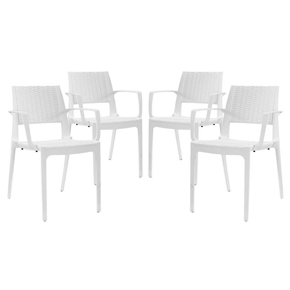 Astute Dining Set Set of 4 White - Modway