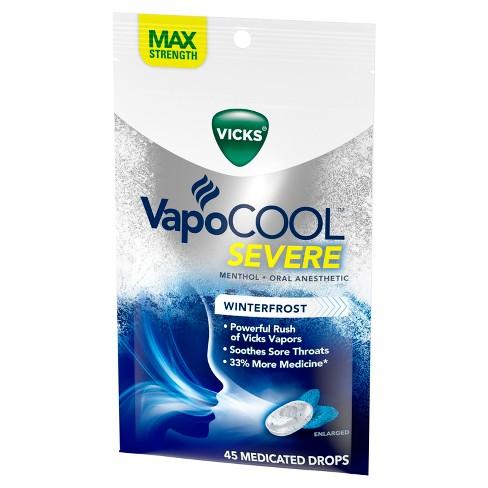 Vicks VapoCOOL Severe Medicated Throat Drops - Menthol - 45ct - image 1 of 4