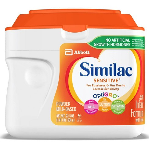 Similac Sensitive For Fussiness and Gas Infant Formula with Iron Powder - 22.5oz - image 1 of 4