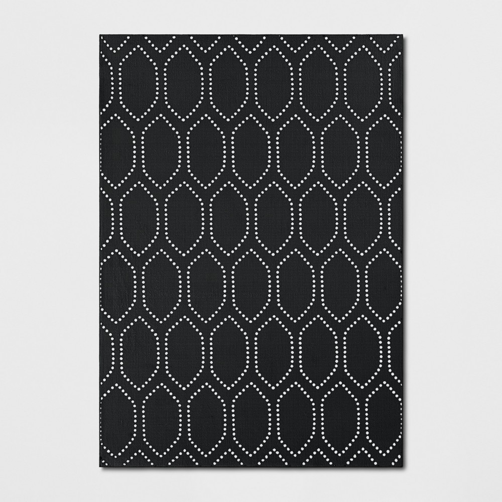 5'X7' Geometric Tufted Area Rugs Black - Threshold