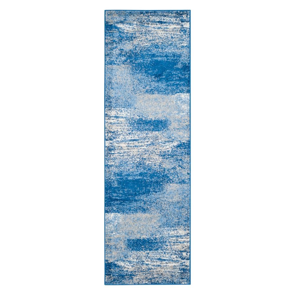 2'6X16' Spacedye Design Runner Silver/Blue - Safavieh