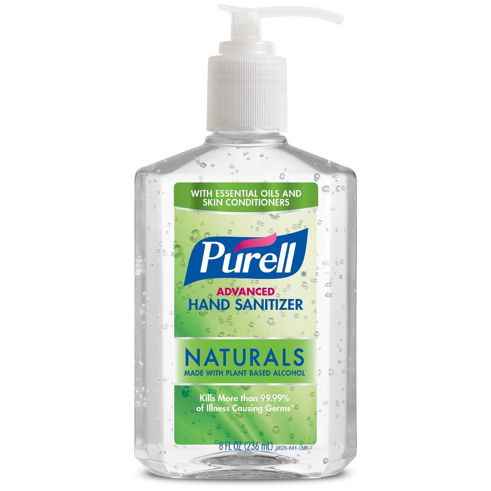 Image of PURELL Advanced Hand Sanitizer Naturals with Plant Based Alcohol Pump Bottle - 8 fl oz