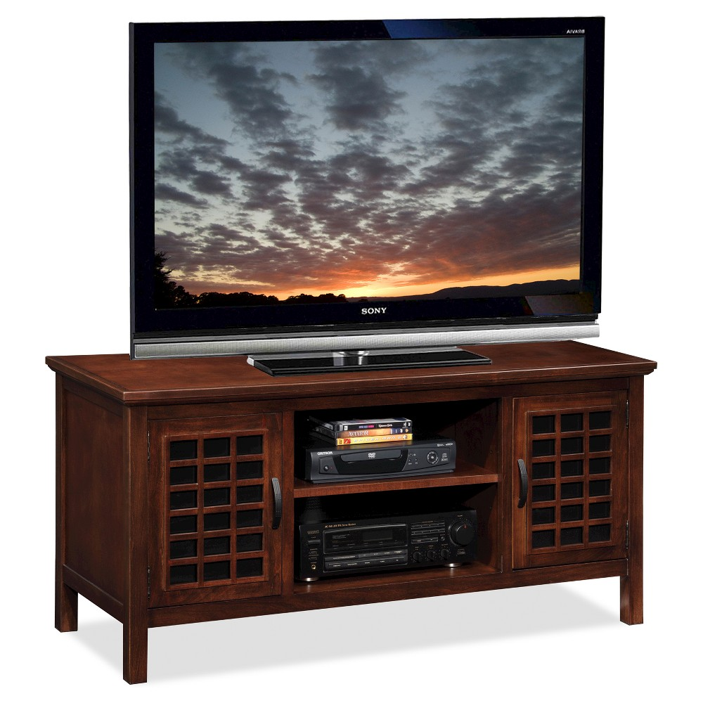50 Flat Panel TV Stand Chocolate (Brown) - Leick Home