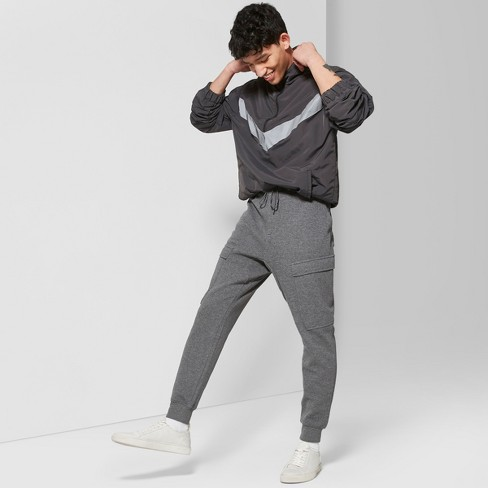 Men's Mid-Rise Knit Cargo Jogger Pants - Original Use™ Quill Gray - image 1 of 3