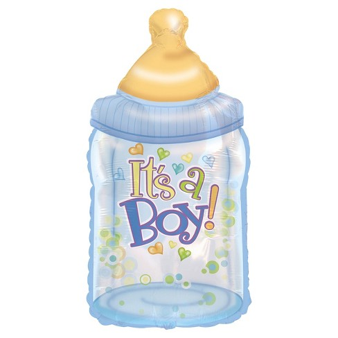 Boy Baby Bottle Mylar Balloon - image 1 of 1