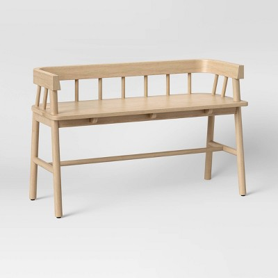 Bayboro Wood Spindle Bench Natural - Threshold™