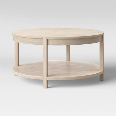 Porto Round Wood Coffee Table Bleached Wood - Project 62™