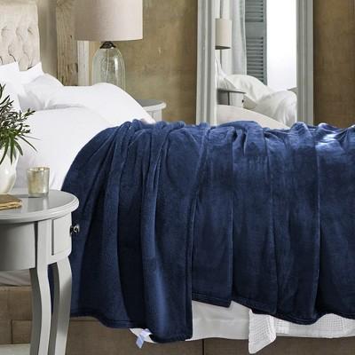 1 Pc 100% Microfiber Polyester Fabric Flannel Fleece Soft Warm Bed Blankets - PiccoCasa