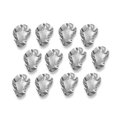 12pk Stainless Steel Oyster Shells - Outset