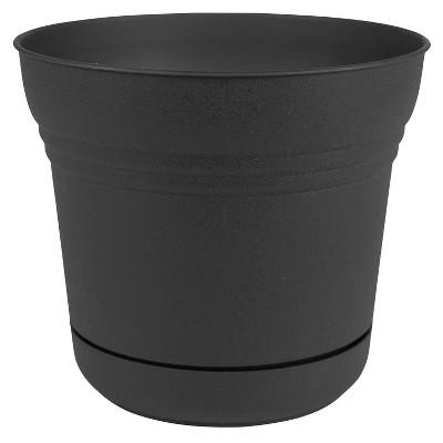 12  Saturn Planter - Black - Bloem