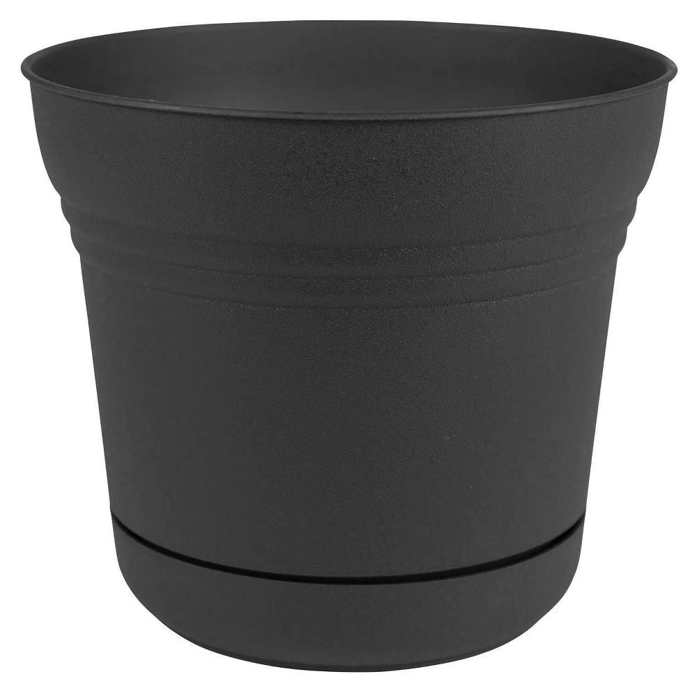 5 34 Saturn Planter Black Bloem