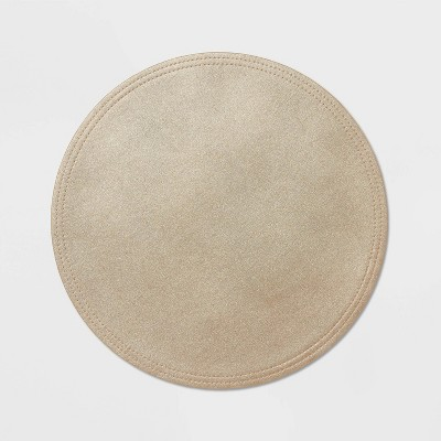 4pk Faux Leather Charger - Threshold™