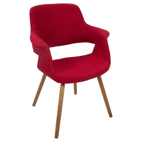 Vintage Flair Mid - Century Modern Chair - Red - Lumisource - image 1 of 7