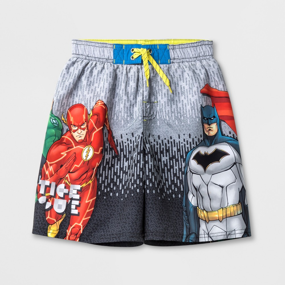 Boys' Justice League Swim Trunks - L, Multicolored
