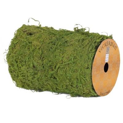 """Vickerman 6"""" X 30"""" Artificial Green Moss Ribbon Roll."""