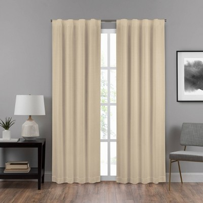 Summit Solid Draft Stopper Room Darkening Window Curtain Panel - Eclipse