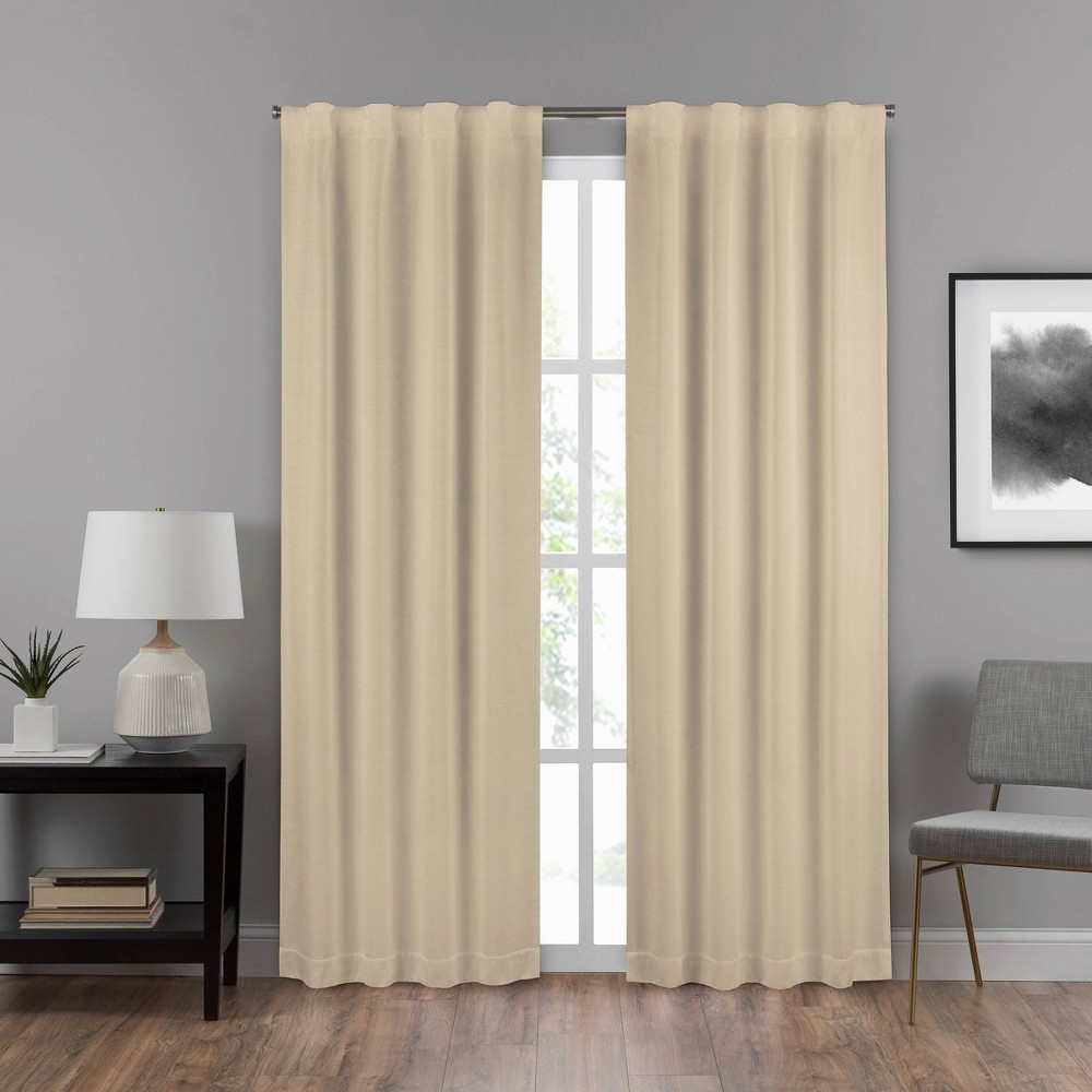 """Image of """"108""""""""x40"""""""" Summit Solid Draft Stopper Room Darkening Window Curtain Panel Gold - Eclipse"""""""