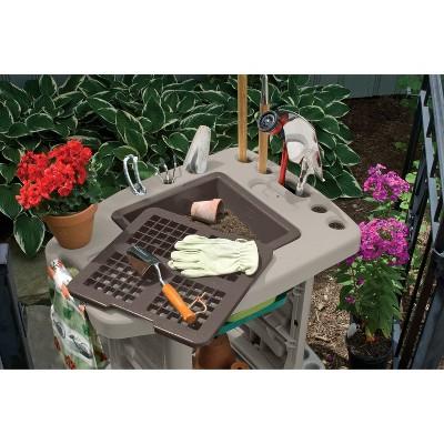 Resin Garden Center Garden Cart - Taupe Brown - Suncast