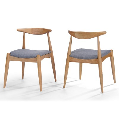 Set of 2 Francie Mid Century Dining Chairs - Christopher Knight Home