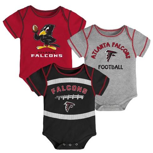 0700d2fb NFL Atlanta Falcons Baby Boys' Newest Fan 3pk Bodysuit Set - 18M