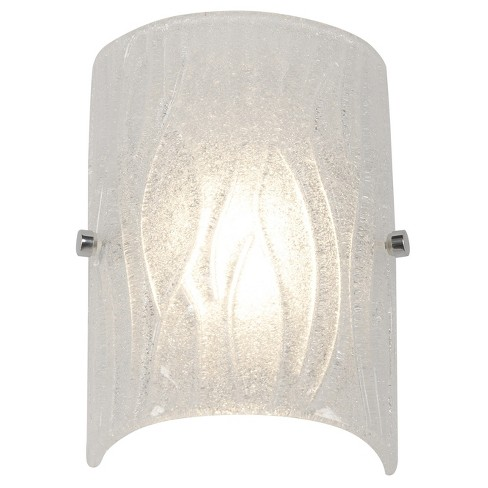Brilliance 1-Light LED Bath Light with Bright Ice Glass Shade - Chrome - Rogue Décor - image 1 of 1