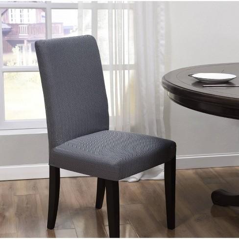 Santa Barbara Dining Room Chair Slipcover Gray - Kathy Ireland