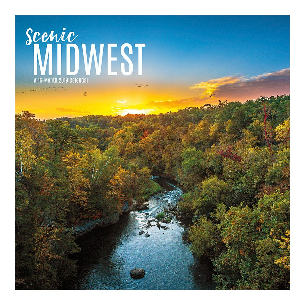 2019 Wall Calendar Midwest Scenic - Trends International, Multi-Colored