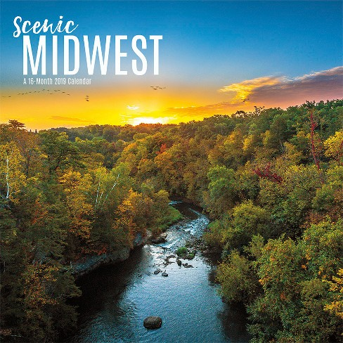 2019 Wall Calendar Midwest Scenic - Trends International - image 1 of 4