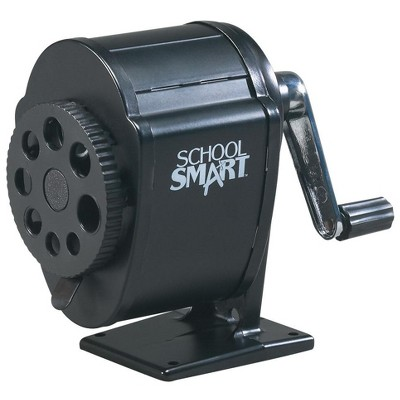 School Smart Multi-Hole Metal Pencil Sharpener, Black
