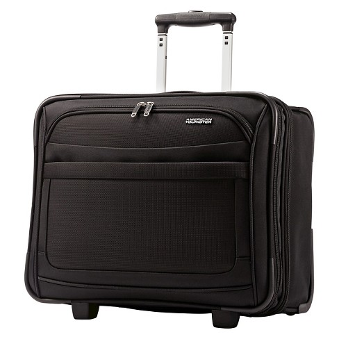 American Tourister Ilite Max Wheeled Boarding Bag Carry On Suitcase Black